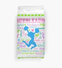 Pastel Cheerleading Typography Duvet Cover
