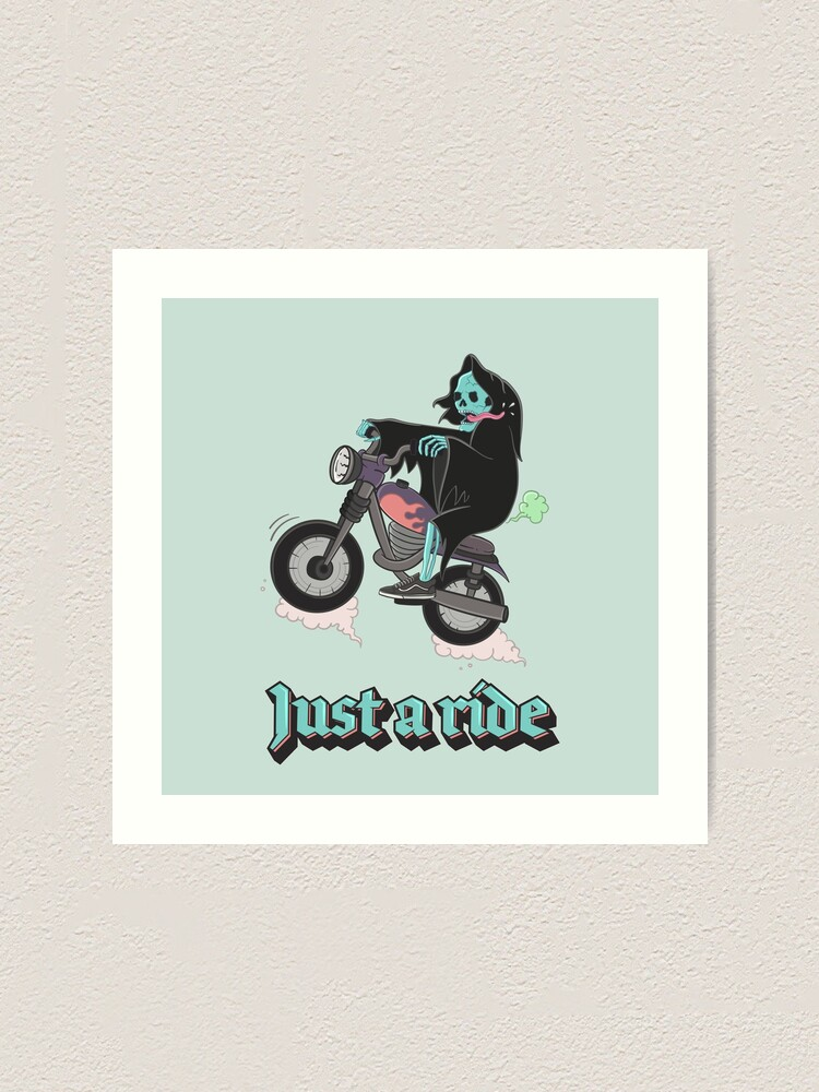 Alternate view of Just a ride Art Print