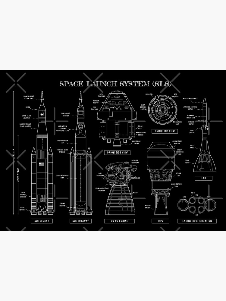 Space Launch System (SLS) Black Version by BGALAXY