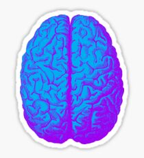 Psychedelic Brain Sticker