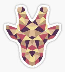 Polygonal Giraffe Sticker