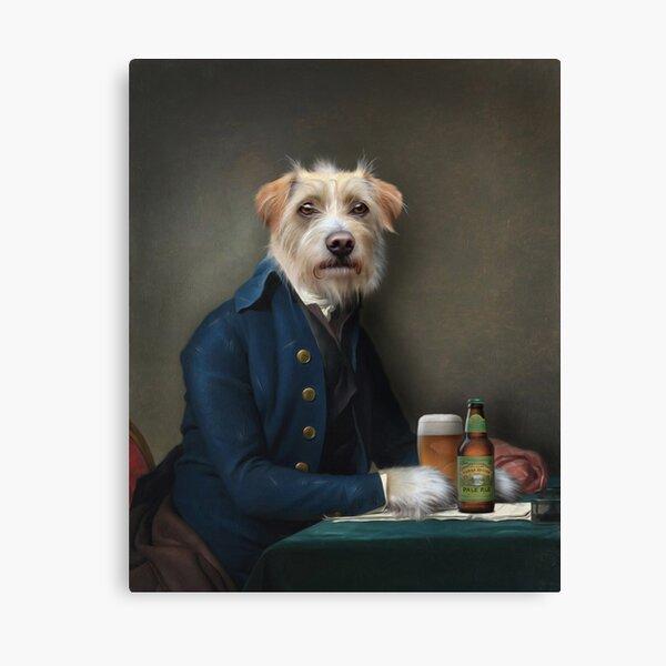Dog Portrait - Vice President Canvas Print