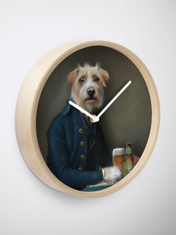 Alternate view of Dog Portrait - Vice President Clock