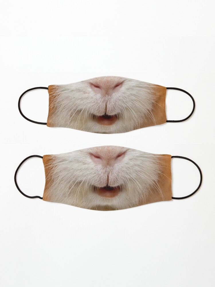 Alternate view of red guinea pig Mask