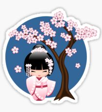 Japanese Bride Kokeshi Doll Sticker