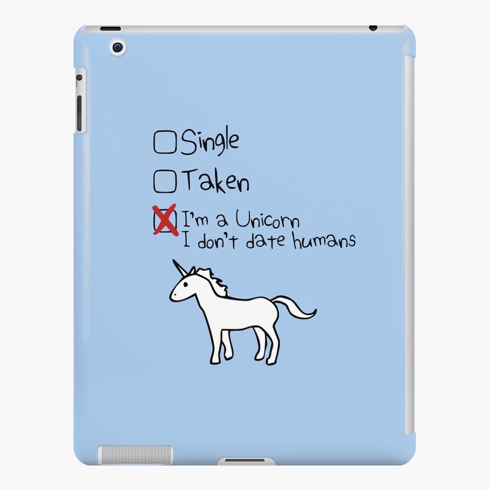 Ich bin ein Einhorn, ich gehe nicht mit Menschen iPad-Hülle & Skin