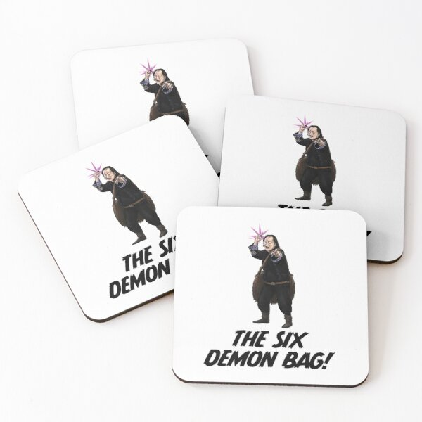 The Six Demon Bag Coasters (Set of 4)