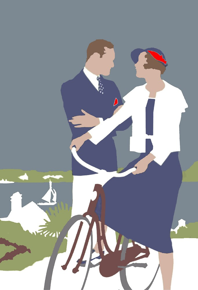 'The Bicycle' Greeting Card or Small Print by luvapples downunder/ Norval Arbogast