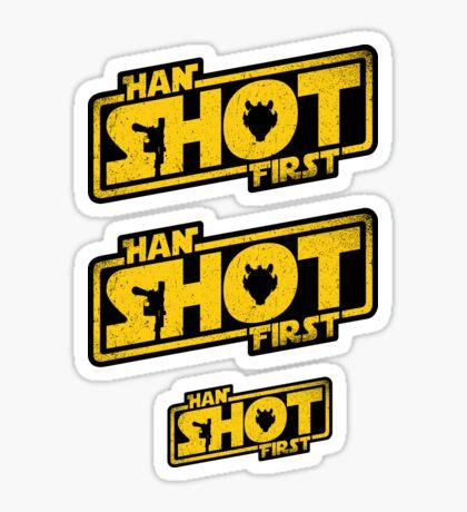 Han Shot First Sticker