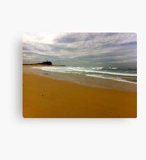 Newcastle. Nobby's Beach. Australia Canvas Print