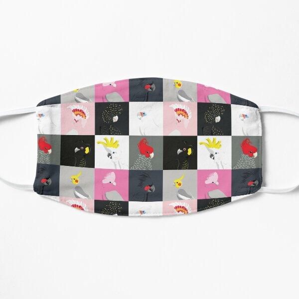 Cockatoo portrait tile pattern Flat Mask