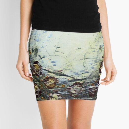 Poppy Circle 11 designed and created by (c) Janet Watson Art Mini Skirt