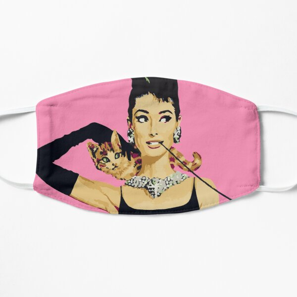Breakfast at Tiffanys   Audrey Hepburn Flat Mask