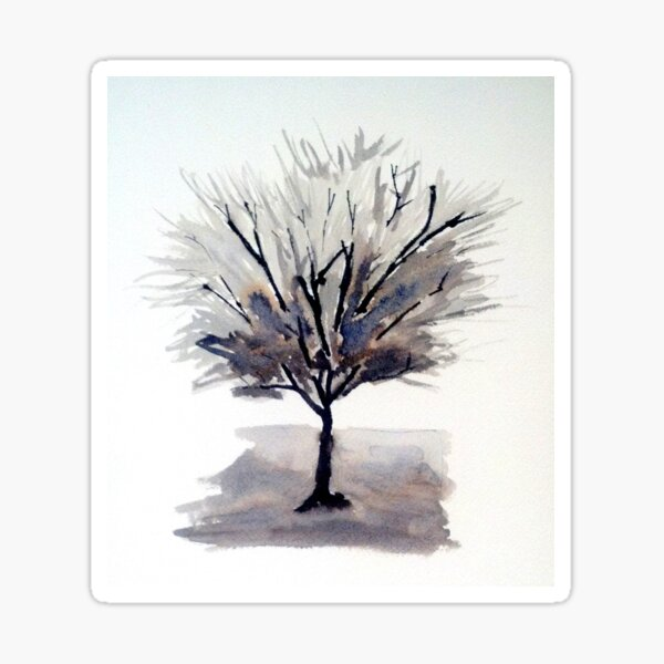 Monochrome Tree Sticker