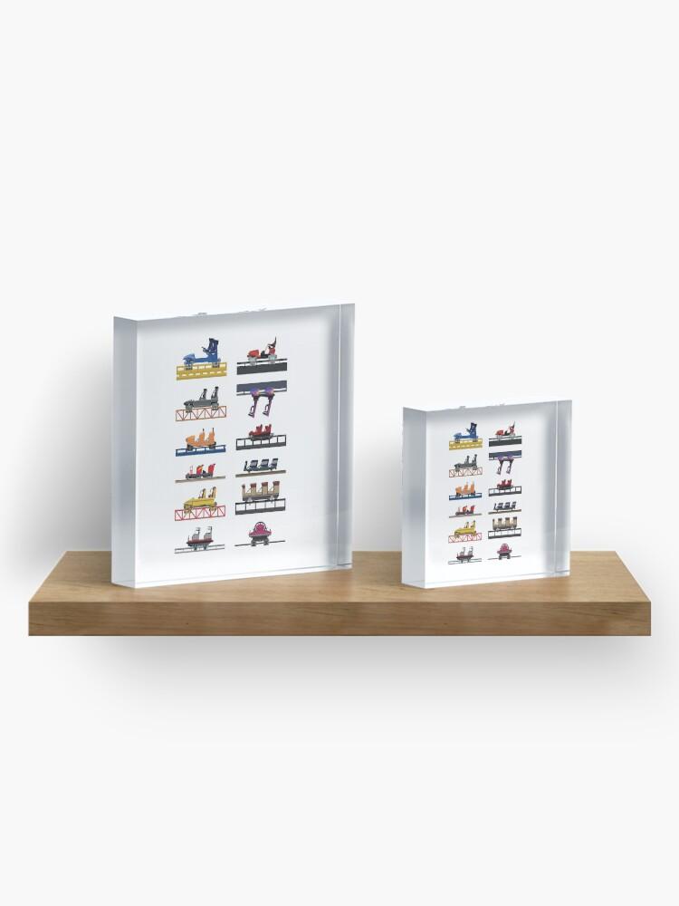Alternate view of Hersheypark Coaster Cars Design Acrylic Block