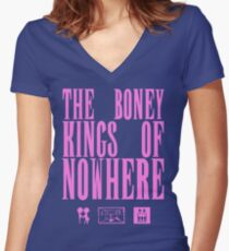 The Boney Kings of Nowhere -Pink Women's Fitted V-Neck T-Shirt