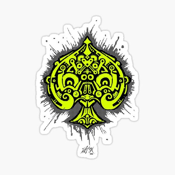 Radiant Spade Sticker