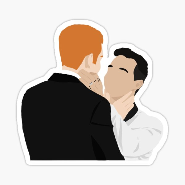 Ian and Mickey 10x12 wedding Gallavich Sticker