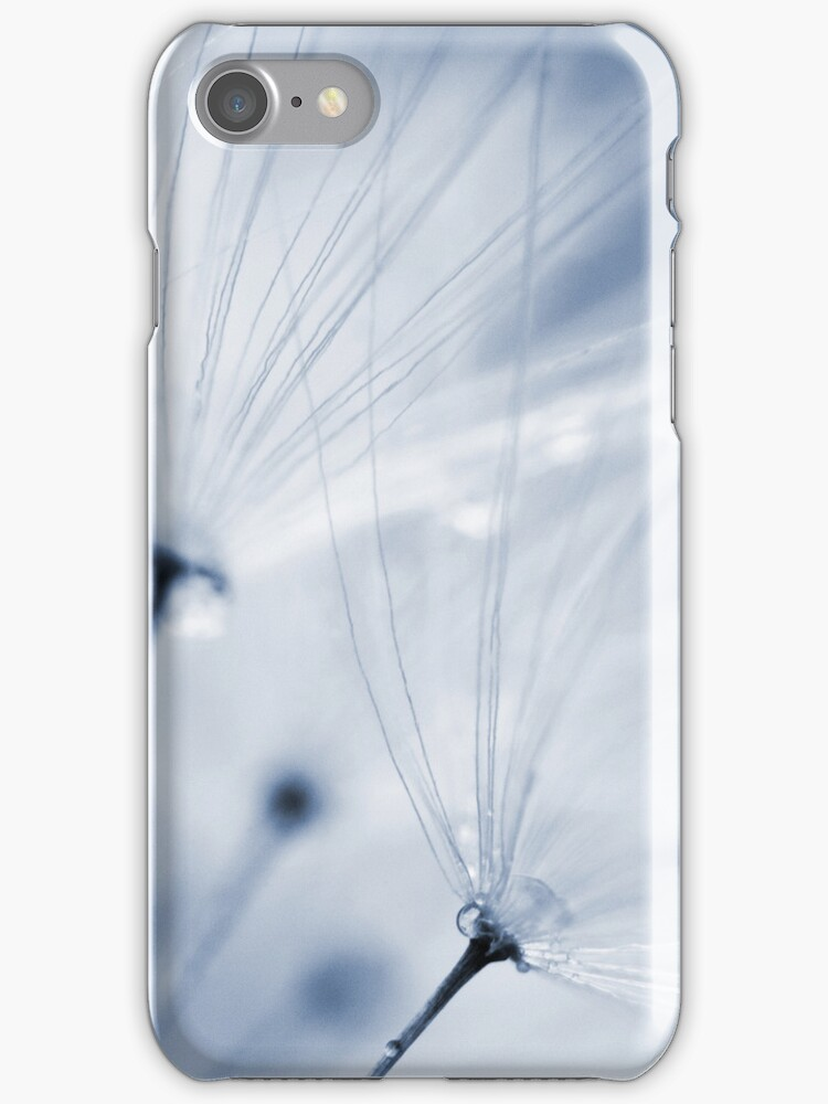 Blue Dandelion Clock iPhone Case by Natalie Kinnear