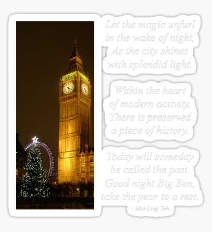 Big Ben ticks Goodnight Sticker