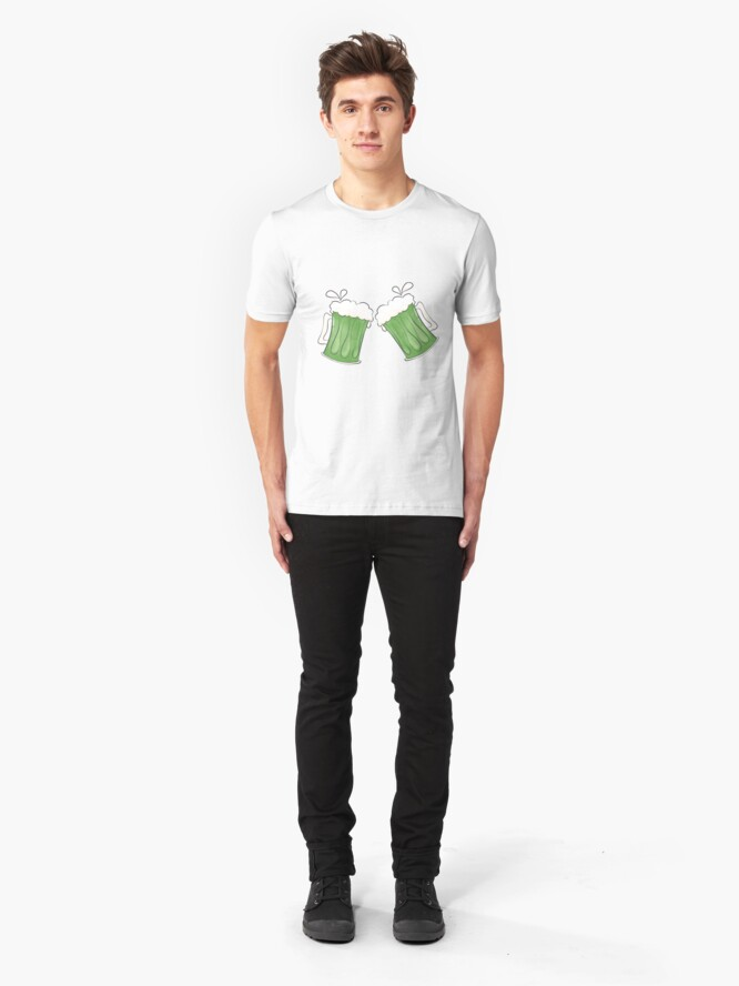 Alternate view of Saint Patties Day Beer Slim Fit T-Shirt