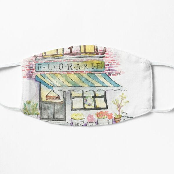 'Florarie' The Florist Shop in Romania Flat Mask