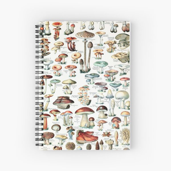 Adolphe Millot - Champignons pour tous - French vintage poster Spiral Notebook