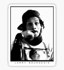 Larry Bourgeois Moustashe finger  Sticker