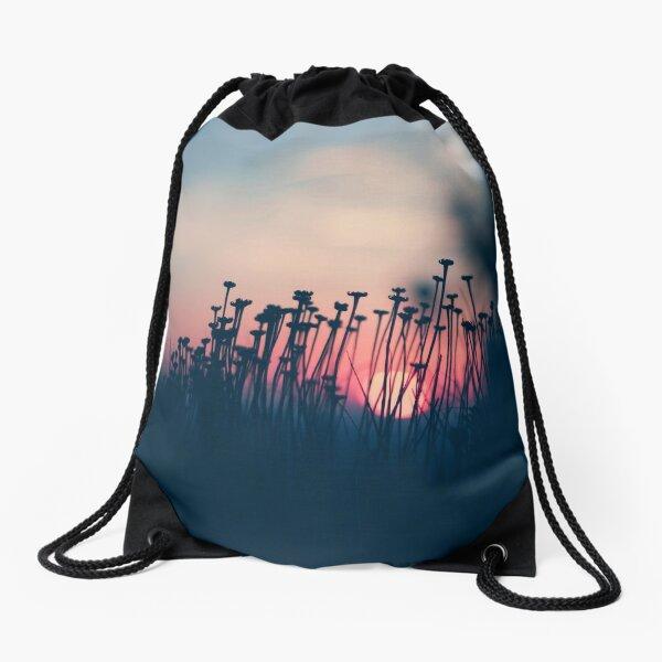 beach sunset Drawstring Bag