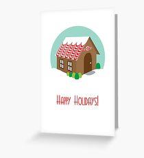 Vintage Gingerbread House Greeting Card