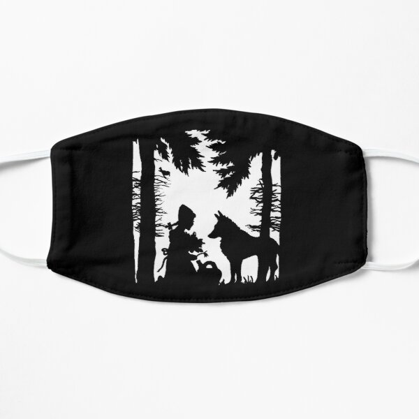 Little Red Riding Hood Wolf Woods Black White Silhouette Mask