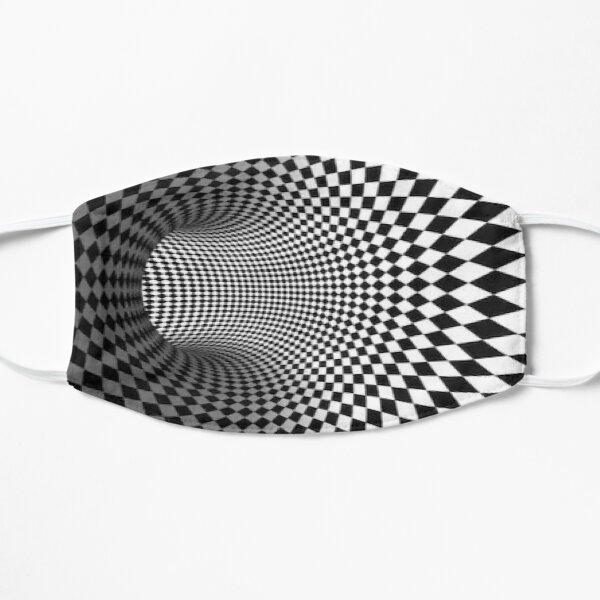 Black and white checkered optical illusion Mask