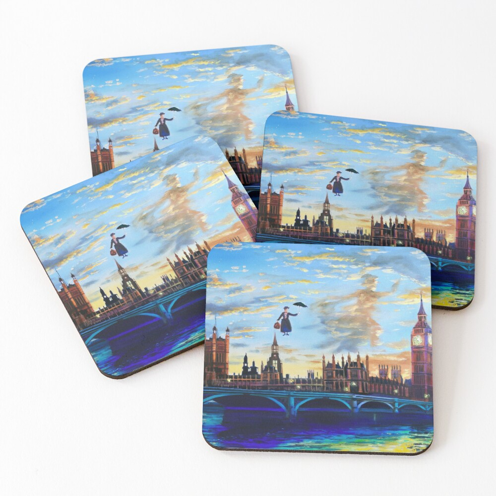 Mary Poppins returns to London Coasters (Set of 4)