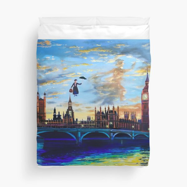 Mary Poppins returns to London Duvet Cover
