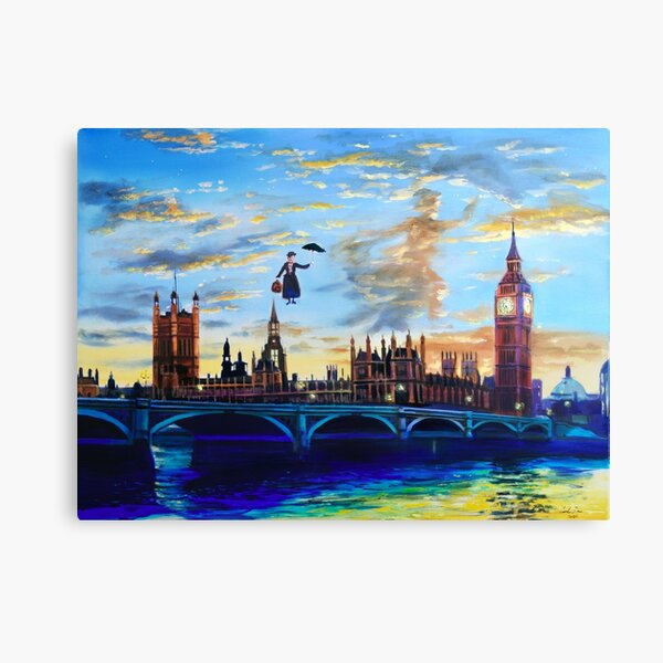 Mary Poppins returns to London Canvas Print