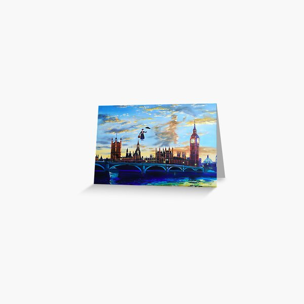 Mary Poppins returns to London Greeting Card
