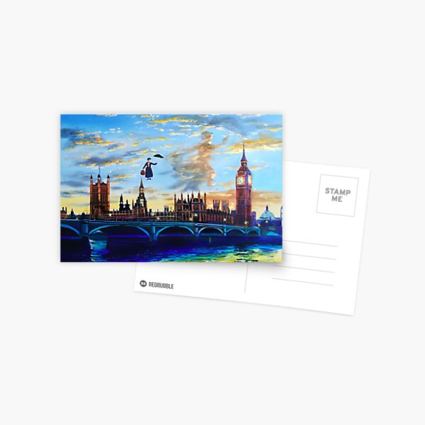 Mary Poppins returns to London Postcard