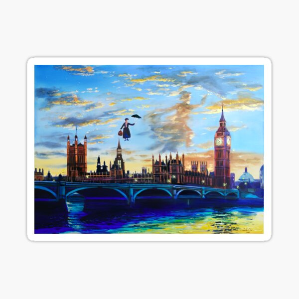 Mary Poppins returns to London Sticker