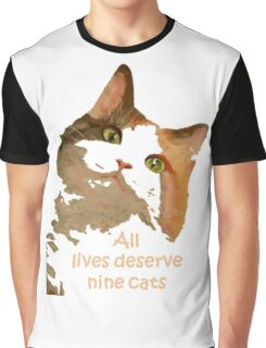 All Lives Deserve Nine Cats Graphic T-Shirt