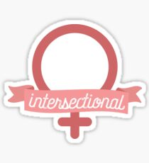 Intersectional Feminist Banner Sticker