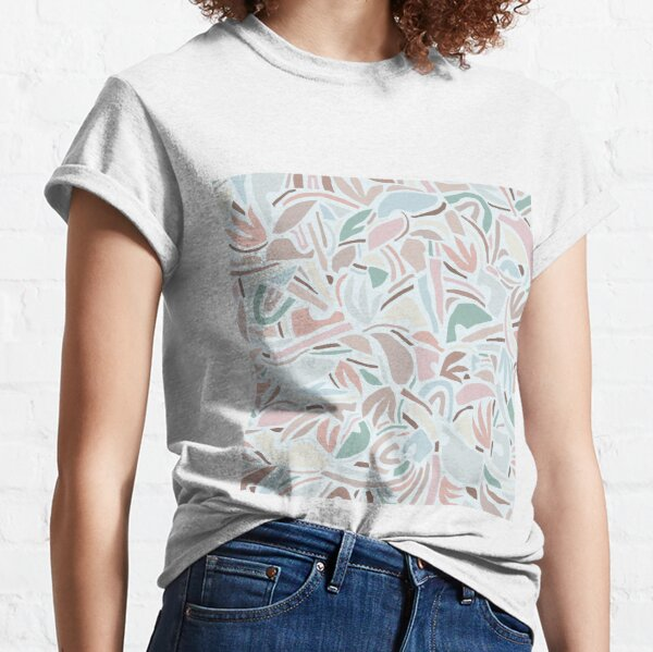 Pastel Contemporary Abstraction / Papercut Nature Classic T-Shirt