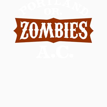 Portland Zombies Athletic Club (dark) by RobDeBorde