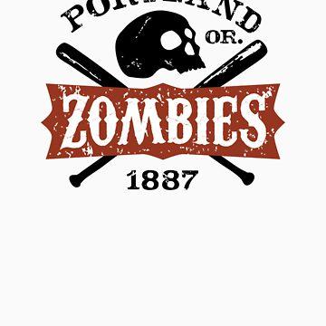 Portland Zombies Deadball Crest by RobDeBorde