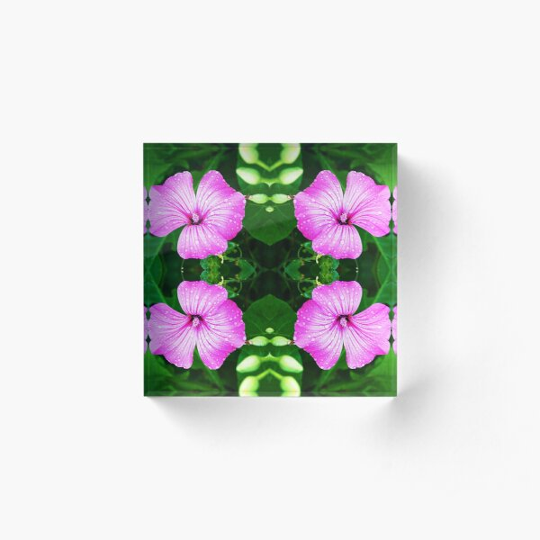 Norwegian Flower - pattern Acrylic Block