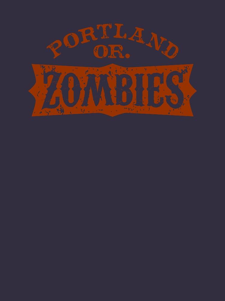 Portland Zombies Distressed Logo by RobDeBorde