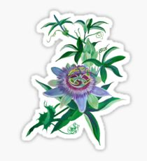 Passion Flower Amethyst  Blossom Sticker
