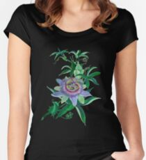 Passion Flower Amethyst  Blossom Women's Fitted Scoop T-Shirt