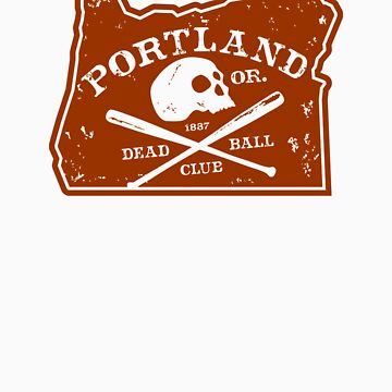 Portland Deadball Oregon Logo by RobDeBorde