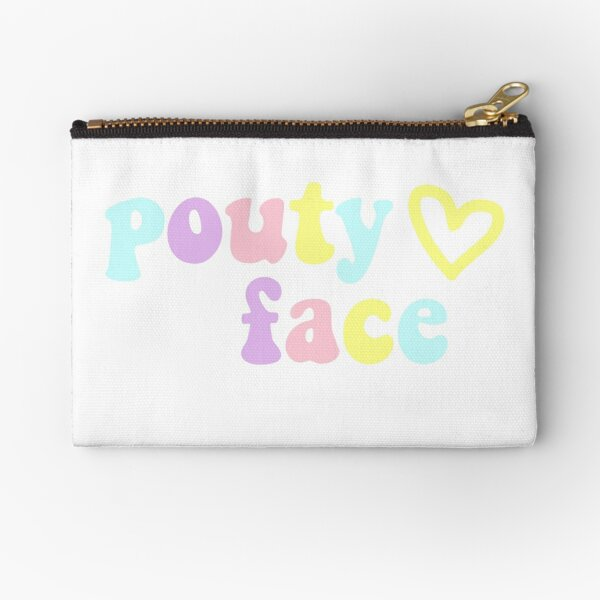 Addison Rae Pouty Face in Rainbow Zipper Pouch