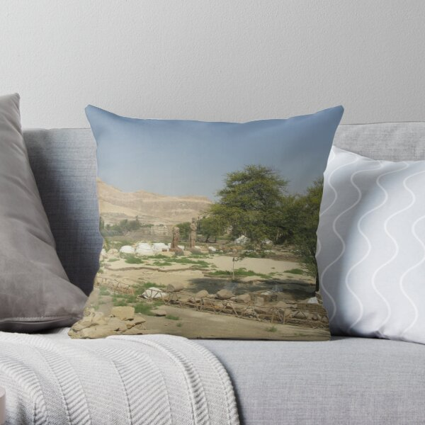 The Mortuary Temple of Amenhotep III, no. 5 Throw Pillow